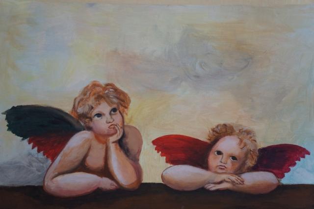 Engel, Acryl auf Leinwand