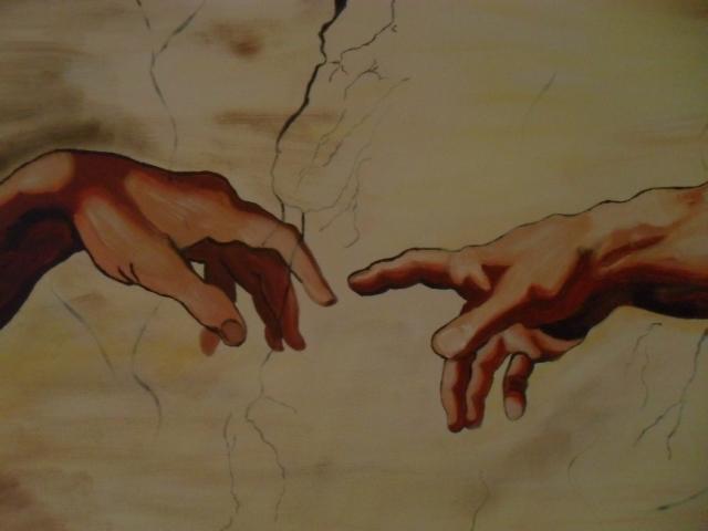 Hände, Acryl auf Leinwand