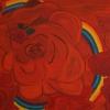 Rote Rosen II, 70x100 cm, Acryl auf Leinwand