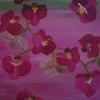 Orchidee lila, 60x 50 cm, Acryl auf Leinwand
