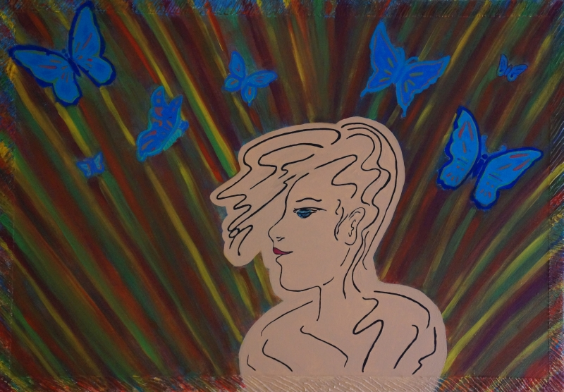 Freie Gedanken, 70x100cm, Acryl/spachtelmasse auf Leinwand