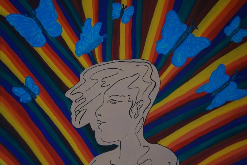 Freie Gedanken II, Acryl auf Leinwand