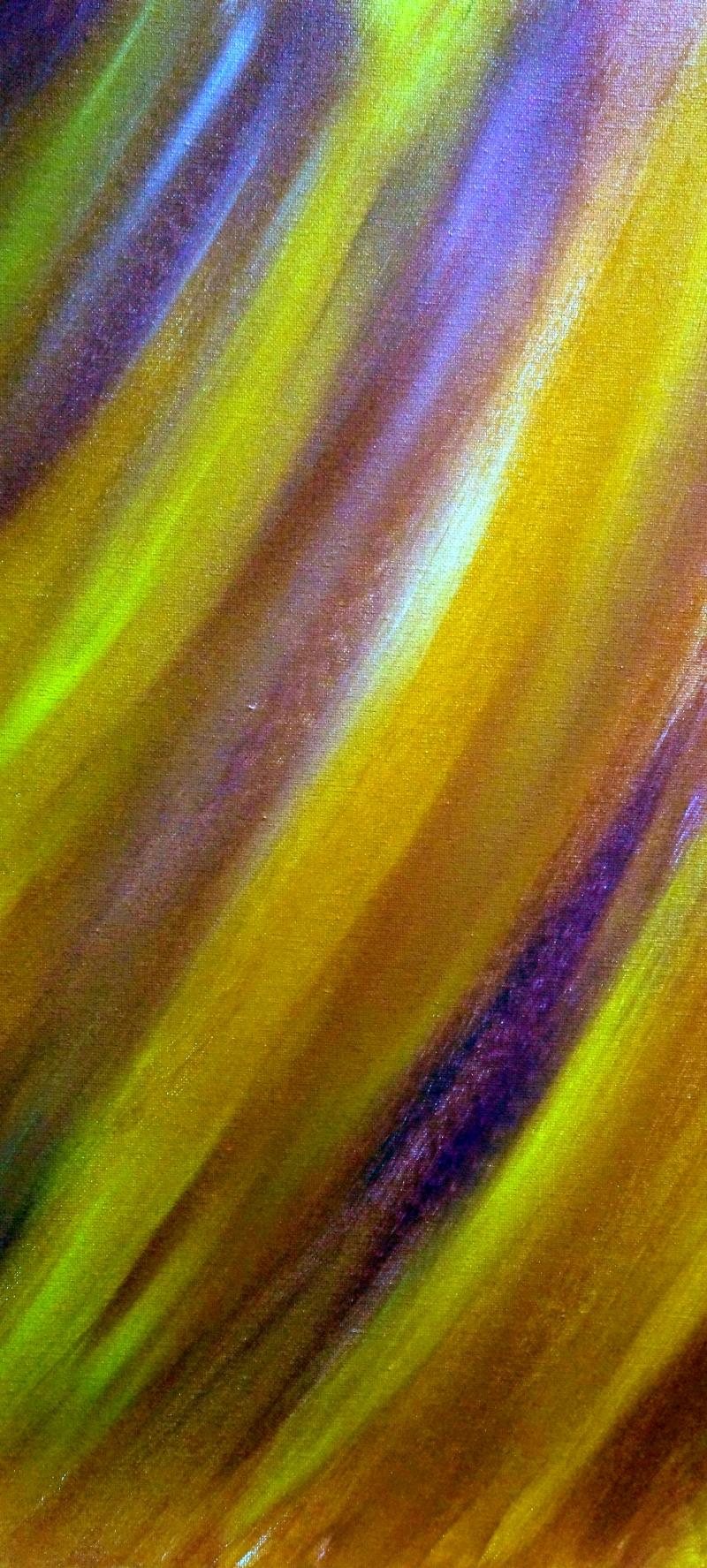 Farbenspiel lila/gelb, 30x60cm, Acryl auf Leinwand