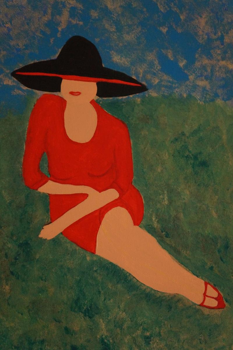 Frau, 30x24cm, Acryl auf Leinwand