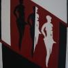 Seiten in mir, 80x60cm, Acryl/Spachtelmasse auf Leinwand