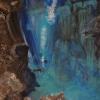 Taucher, 50x60cm, Acryl/Spachtelmasse auf Leinwand