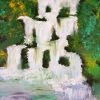 Wasserfall II, 60x50cm, Acryl/Spachtelmasse auf Leinwand