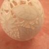 Straußenei gelocht - geschliffen- Motiv: Blume, Bild 3