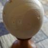 Straußenei 10 - als Lampenschirm geschliffen und gelocht- Motiv: Mann im Mond , Bild 1