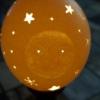 Straußenei 10 - als Lampenschirm geschliffen und gelocht- Motiv: Mann im Mond , Bild 3