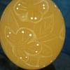 Straußenei 11 - als Lampenschirm geschliffen und gelocht- Motiv: Vogel , Bild 3