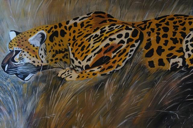Gepard,60x80cm, Acryl auf Leinwand