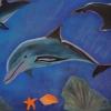 Delfin, 70x100cm,Gepard,60x80cm, Acryl auf Leinwand