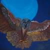 Nachtflug II, 60x80cm, Acryl auf Leinwand