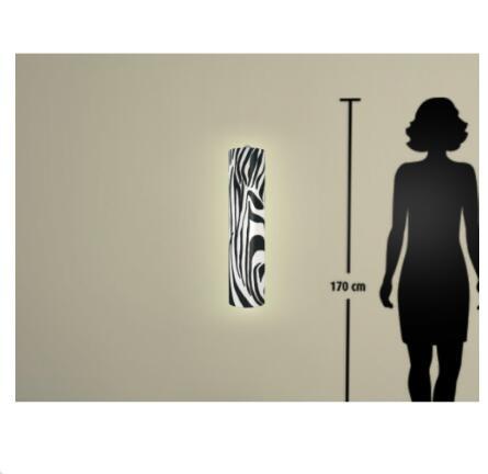Motiv Zebra    Größe H66xB16cm